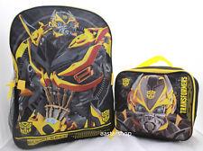 Transformers Bumblebee Boys School Backpack Book bag Lunch Box SET Kids Prime