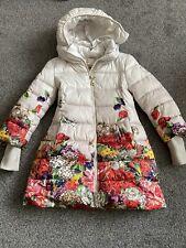 Monnalisa Girls Coat Age 7 (no Belt) Floral Padded Puffer