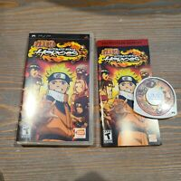 Naruto Ultimate Ninja Heroes PSP Complete 2007 Sony Bandai Namco CIB Game