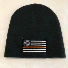 Thin Orange Line Flag Search Rescue Support Knit Skull Winter Hat Cap