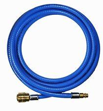 Druckluftschlauch Gewebeschlauch PVC blau 6mm 3 Meter Kupplung Stecknippel