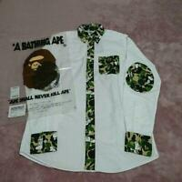a bathing ape Bape peanuts SNOOPY Green Camo shirt size S a30