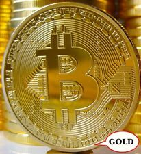 1Pcs Rare Collectible In Stock New Golden Iron Bitcoin Commemorative Coin Gifts
