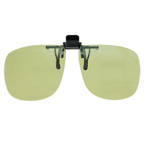 Yellow Clip - Ons with 100% UV Protection, Driving Sunglasses, Low Glare