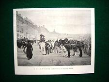 1897 - Il molo di Bordeaux al mattino, quadro di A. Smith + In laguna, di Valier