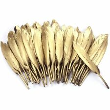 72pcs 4''-6'' Gold Feathers DIY Craft Wedding Party Dress-up Decor Hair Ornament