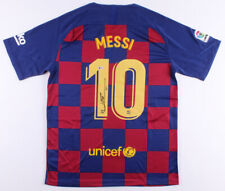 "Lionel Messi Signed FC Barcelona Nike Jersey Inscribed ""Leo"" Beckett COA"