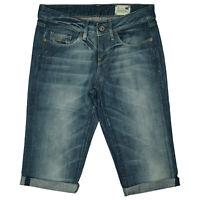 G-STAR 3301 Bell Cut Wmn Damen Sommer Jeans Hose Short Bermuda Capri W27 Blau