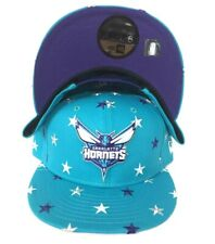 New Era Star Teal Team Color Charlotte Hornets 9fifty Snapback Hat