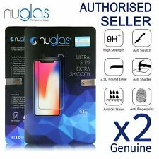 2x NUGLAS GENUINE Tempered Glass Screen Protector iPhone 12 11 X XS Max XR 8 7+