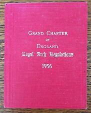 Grand Chapter of England Royal Arch Regulations 1956 Book