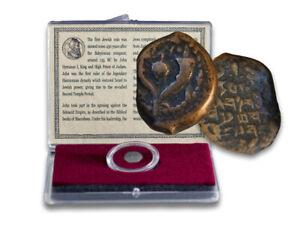 Premier Juif Monnaie, Ancient Bronze Prutah De Hyrcanus I Avec Story ~135-140 BC