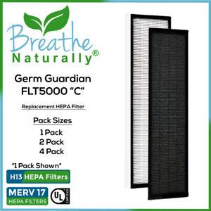 "GermGuardian FLT5000 ""C"" Premium MERV 17 Hepa Filters, AC5000, BXAP040, AP2800CA"