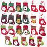 Xmas Tree Hanging Ornament Christmas Party Decor Santa Claus Sock Candy Bag
