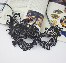 BLACK STUNNING VENETIAN MASQUERADE EYE MASK HALLOWEEN PARTY LACE FANCY DRESS 04