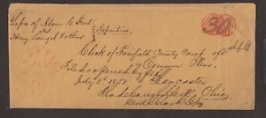 Illinois: Knoxville 1840s Stampless Legal Size Cover, Rerated 30c to 40c