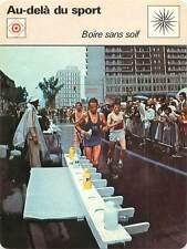 FICHE CARD Marathon JO de 1976 Montreal Boire sans Soif Course à Pied  70s
