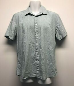SABA Tapered Fit Button Up Mini Floral Print Shirt / Size large