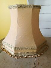Large Vintage yellow Lampshade Tassels Shabby Chic Retro Victorian Downton Abbey