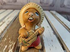 vtg vintage Pendelfin statue made England rocky rabbit bunny drums band guitar
