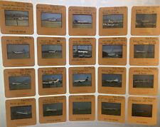 VTG airplane 35 mm Slide color Aircraft Aviation 70's (20 lot) jets slides