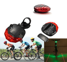 Bicycle LED Tail Light Safety Warning 5 LED 2 Laser Red Bike Rear Lamp. 049