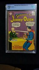 "Superman's Pal Jimmy Olsen 22 CGC 7.0 ""The Super Brain of Jimmy Olsen"" RARE!"