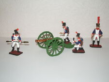 Napoleonic French Artillery cannon with with crew painted metal toy soldiers