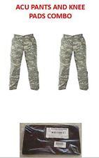 2 ACU DIGITAL Army Combat Uniform TROUSER PANT W KNEE PADS LARGE X-LONG  DEFECT