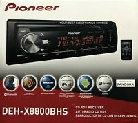 NEW Pioneer DEH-X8800BHS Single DIN, Bluetooth, CD/AM/FM/HD Radio, Car Stereo