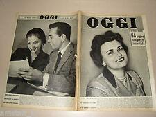 OGGI=1954/48=ANNA MARIA PIERANGELI=ANNE BRAILLARD=JEAN MARAIS=MATASSONE=NORDHAL=
