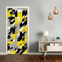 Removable Home Door Wall Sticker Self Adhesive Modern Geometric background