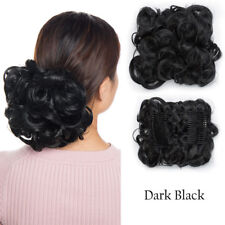 LARGE Comb Clip In Curly Hair Piece Chignon Updo Hair Extension As Human Hair PR