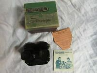 Vintage Sawyer View master Stereoscope w/ Original box instructions packet list