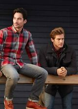 Calamar Casual Fit Checked Shirt - Red - Large - Box6469 F