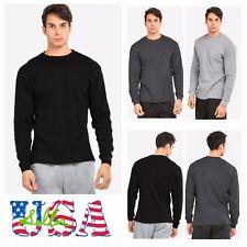 Mens Long Thermal T-Shirt Crew Neck Casual Outdoor Sweatshirt  Sweater Underwear