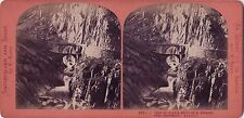 Pont du diable St Gothard SUISSE Photo DEMAY Stereo Vintage albumine ca 1870