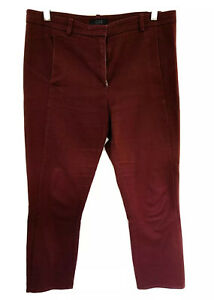 """COS burgundy Pants Euro 38 Approx 10-12 W32"""" X Inseam 25"""" Ankle /cropped Pockets"""
