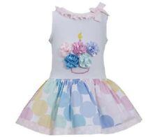 Bonnie Jean Girls Cupcake Multi Color Polka Dot BIRTHDAY Party Dress 4T New