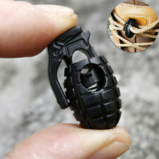 2 pcs Grenade Shoe Lace Buckles Rope Stopper Clamp Paracord Cord Shoelace Locks·