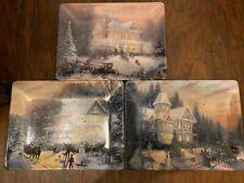 1997 Bradford Exchange Thomas Kinkade Limited Edition Holiday Memories Plates
