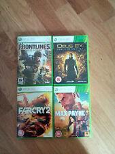 xbox 360 games bundle shooet em up Max Payne 3 Far Cry 2 Frontlines Deus Ex