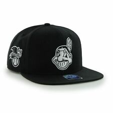 Cleveland Indians '47 Brand MLB Snapback Hat Cap - Chief Wahoo Indian Head Black