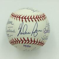 Beautiful 50 Shutouts Club Signed Baseball Nolan Ryan Tom Seaver Bob Gibson JSA