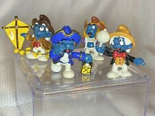 1984 Vintage Smurfs Ben Franklin Christopher Columbus Paul Revere Thomas Edison