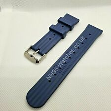 Blue 22mm NH35-Watches Rubber Waffle Strap, Seiko SKX, Turtle SRP, 6309, 7002