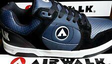 NEW Mens Airwalk Throttle Skate Shoe Trainer Sneaker Footwear UK 9 Black/Navy