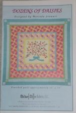 "New Dozens Of Daisies Quilt Pattern 50"" x 50"" Marinda Stewart For Michael Miller"