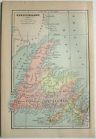 Original 1895 Map of Nova Scotia by Hunt & Eaton. Antique