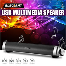 ELEGIANT Multimedia Sound Bar USB Speaker System For PC Desktop Laptop Computer